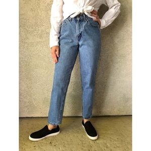 VINTAGE | High waisted mom jeans 100% cotton